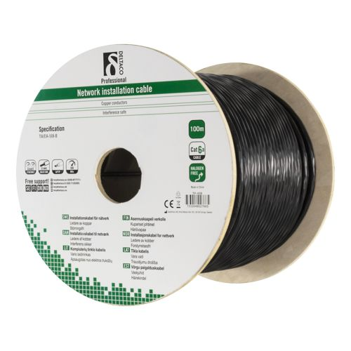 Cat 6A Outdoor Installation U/FTP 100m blacK