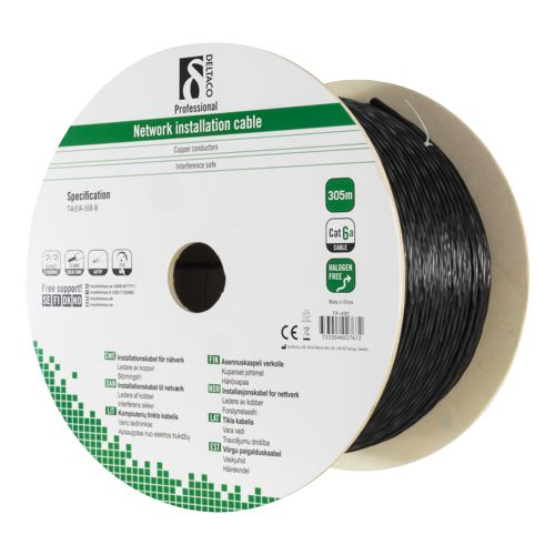 Cat 6A Outdoor Installation U/FTP 305m blacK
